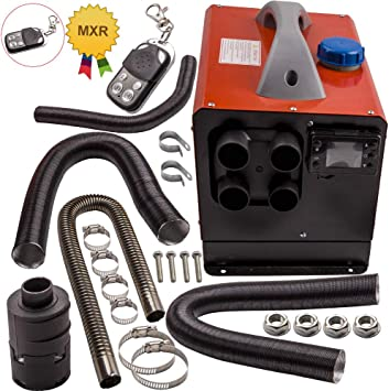 maXpeedingrods 12V 8KW Air Diesel Heater Know Switch /& Remote Control 1 Outlet Hole fit for Trailers Motorhomes Truck Bus Boat