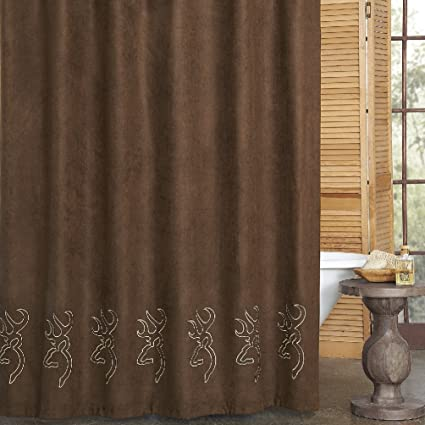 Amazon Buckmark Browning Suede Shower Curtain 72 X Home