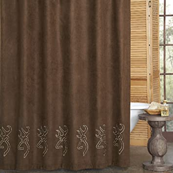 Browning Buckmark Suede Shower Curtain 72u0026quot; ...