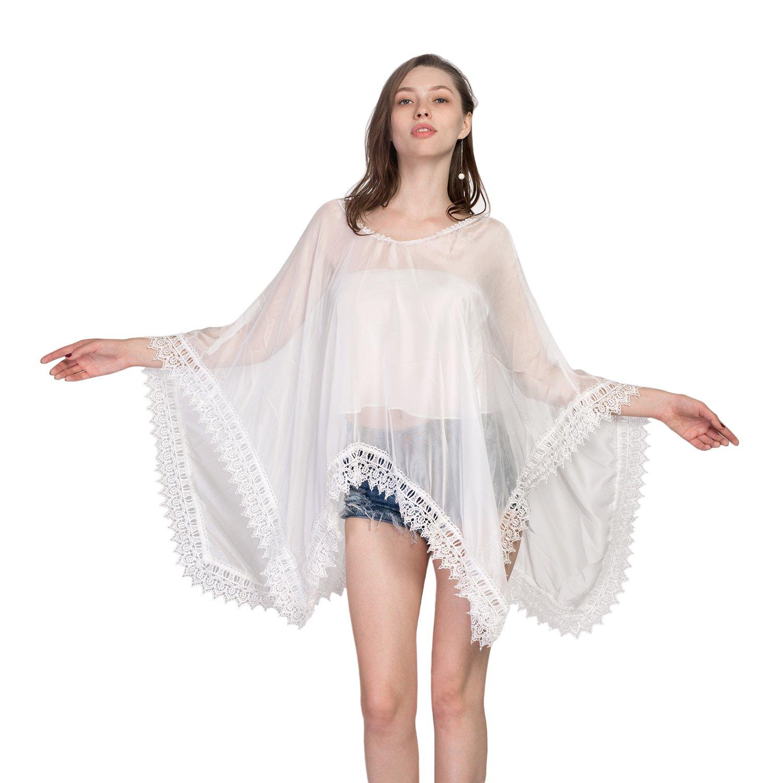 Eagerness Damen Sommer Poncho Umhang Bikini Cover Up Reizvoll ...