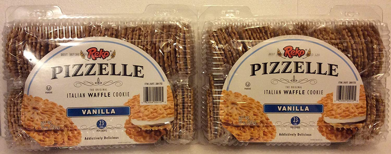 Reko Pizzelle (2 PACK SUPER SAVER) Italian Waffle Cookie Vanilla - 20oz Each