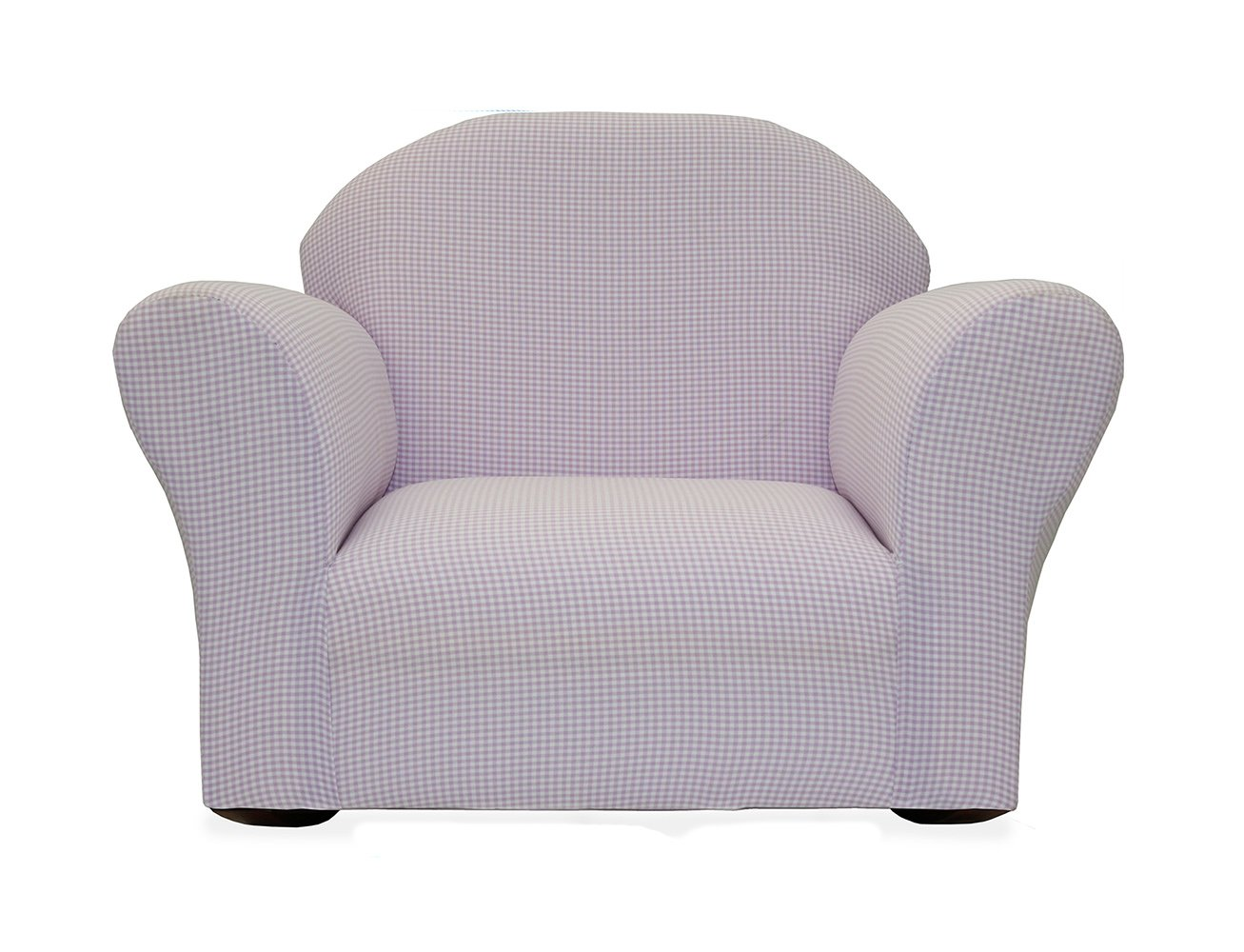 KEET Roundy Rocking Kid's Chair Gingham, Lavender