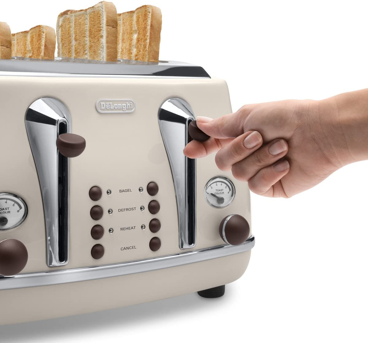 Delonghi Vintage Icona Cream 4 Slice Toaster