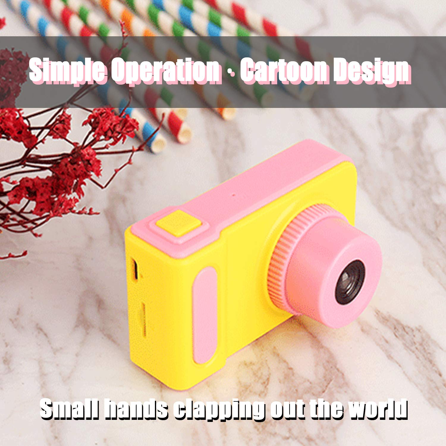 Basic-Pink Shockproof Digital Cameras for Child Boys Girls Hachis Choice Kids Camera for 4-7 Year Old Boys and Girls Compact Camcorder Best Birthday Festival Gifts for Kid