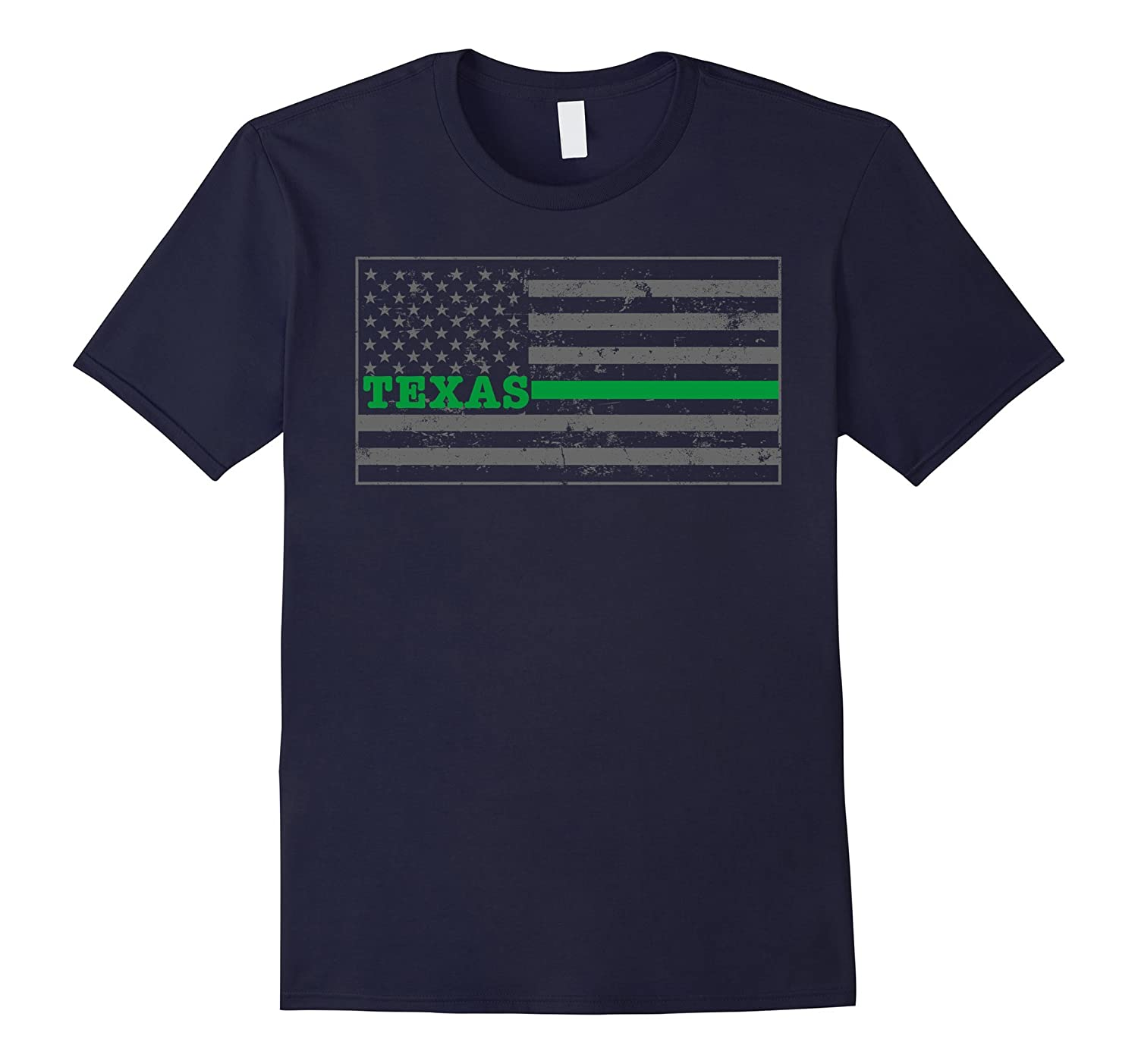 Texas Military Border Patrol Shirt Thin Green Line Shirt-Vaci