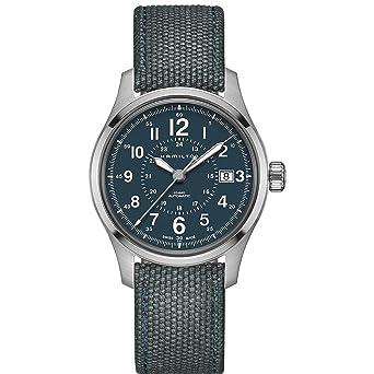 Hamilton h70305943 azul 40 mm acero inoxidable Caqui campo automático Mens Reloj: Hamilton: Amazon.es: Relojes
