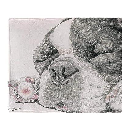 YISUMEI - Manta Polar Suave - Manta de Perro Bulldog francés Dormido, Adecuada para sofá