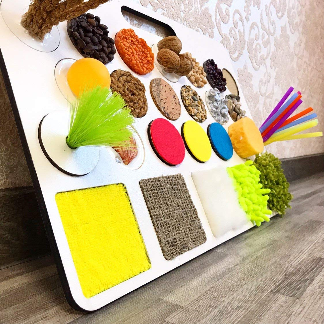 Sensory board, Busy board, Educational toy, Montessori toy, Activity board wooden toddler toy 1st birthday 1 year toy kids