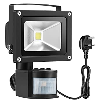 led security outdoor motion sensor pp spot pir with bulbs camera waterproof floodlight light