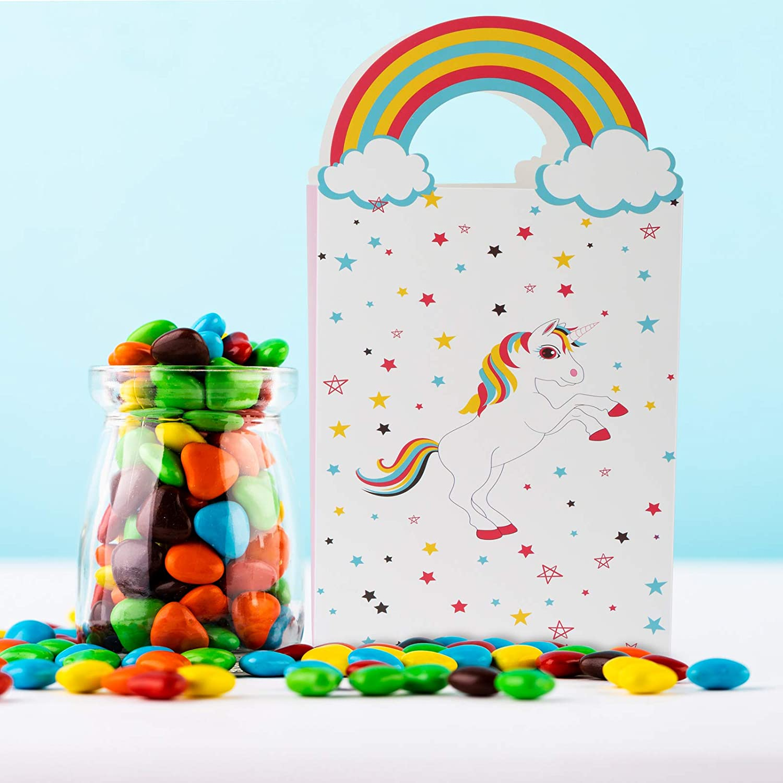 GWHOLE 12 Piezas Bolsas de Papel Unicornio para Niños con ...