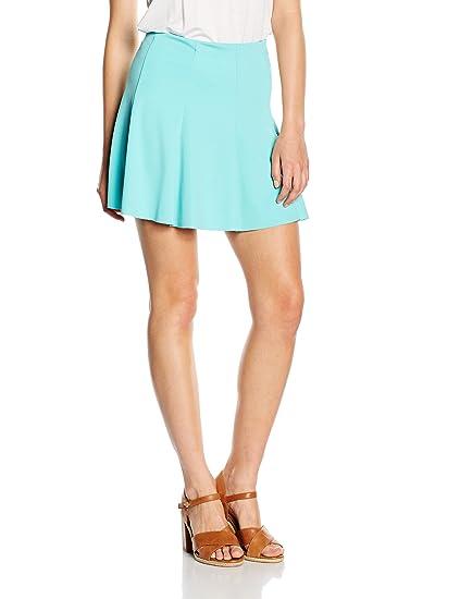 Solo Capri Minigonna A Campana Falda, Azul (Tiffany), S para Mujer ...