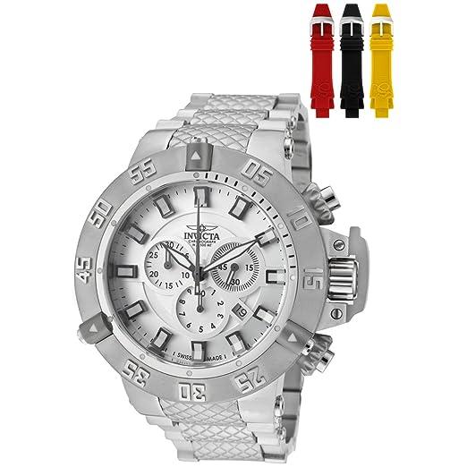 Invicta 1894 - Reloj de cuarzo para hombres, color plata: Amazon.es: Relojes