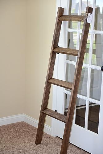 Amazon 5 Rustic Blanket Ladder Rustic Home Dcor Quilt Rack