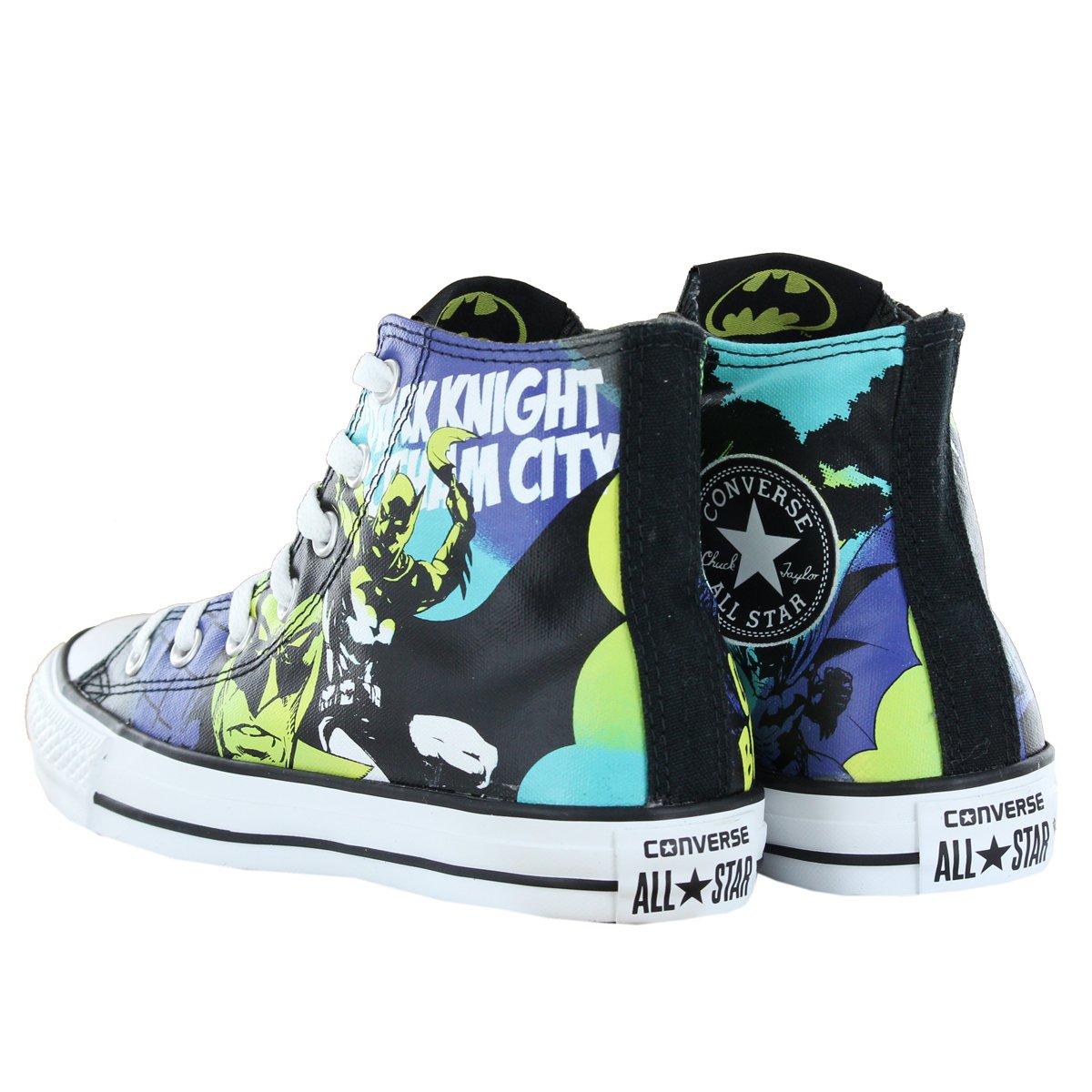 5412b1fa3210 Converse CT DC Batman Hi Black Multi Womens Trainers Size 5.5 UK  Amazon.co. uk  Shoes   Bags
