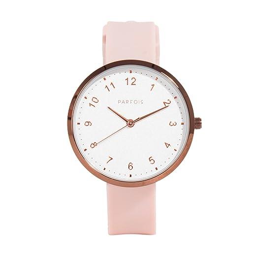 Parfois - Relojes Relojes Plastico Nude - Mujeres - Tallas Única - Nude: Amazon.es: Relojes