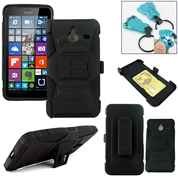 sneakers for cheap bb19c 7c7c1 Customerfirst - Lumia 640 XL Case, Microsoft Lumia 640 XL Armor Series -  Heavy Duty Dual Layer Holster Case Kick Stand with Locking Belt Swivel Clip  - ...