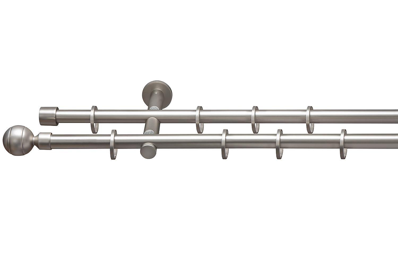 Acier inoxydable 60 cm Beyond Drape Tringle de d/éfilement /Ø 16/mm Motif rayures 2/couleurs assorties avec anneaux de tringle /à rideau style