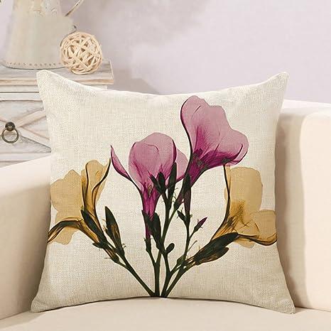 Domivon Decorativa almohada Flores Impresión Impreso Sofá ...