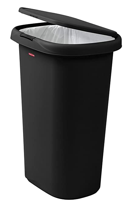 Amazon Com Rubbermaid Spring Top Lid Trash Can For Home Kitchen