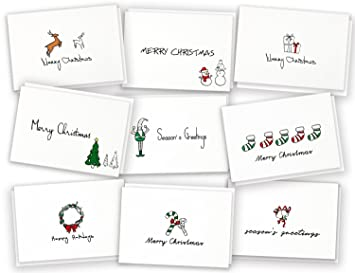 Amazon merry christmas greeting cards xmasholiday party merry christmas greeting cards xmasholiday party supplies invitation 36 cards 36 m4hsunfo