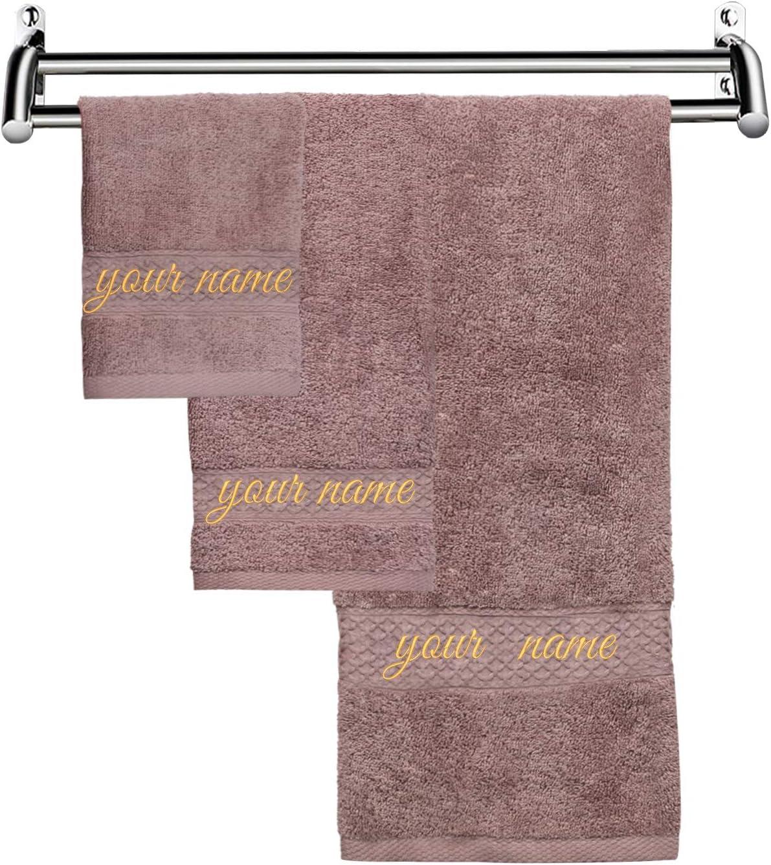 Amazon.com: ZERMDIEY1 Luxury Monogrammed Bath Towels Embroidered