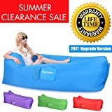 Inflatable Air Lounger Hangout Sofa Bag 2017 Upgrade Version Great Home Air Chair Couch Sofa Hammock Gets Inflated and Holds Air 50% Better Than Other Inflatable Couch Chair Hammock