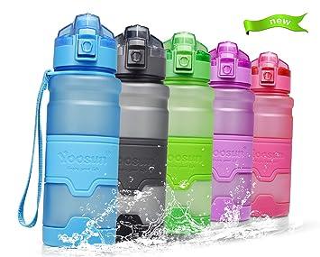 Temfly Botella Deportiva Botella de Agua sin BPA - 500ml/700ml/1L - Gua Botellas con Filtro para Niños, Correr, Gimnasio, Yoga: Amazon.es: Deportes y aire ...