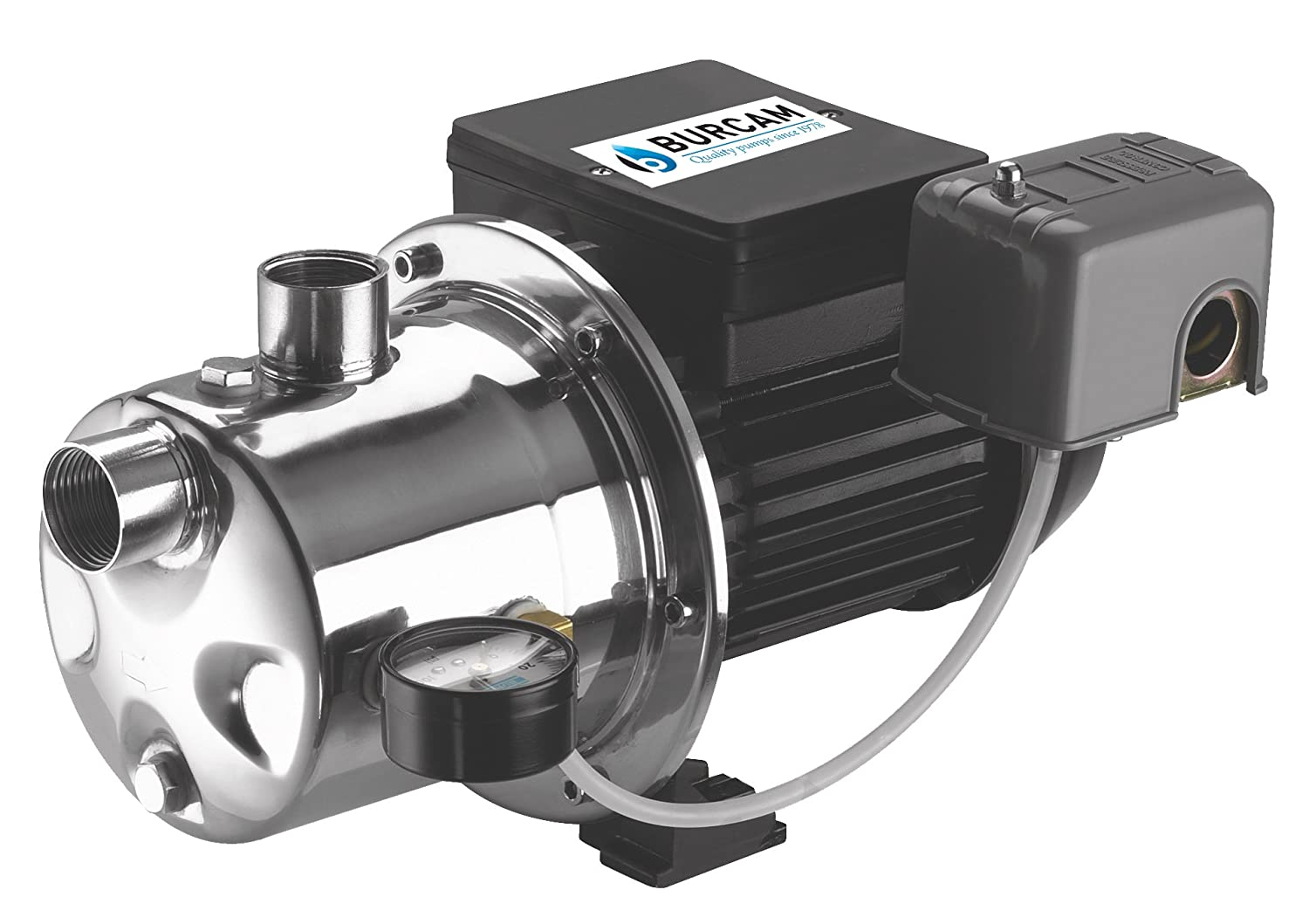 BURCAM 506518SS 3/4 HP Stainless Steel Shallow Well Jet Pump