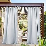 NICETOWN Outdoor Curtain Waterproof with Tab Top