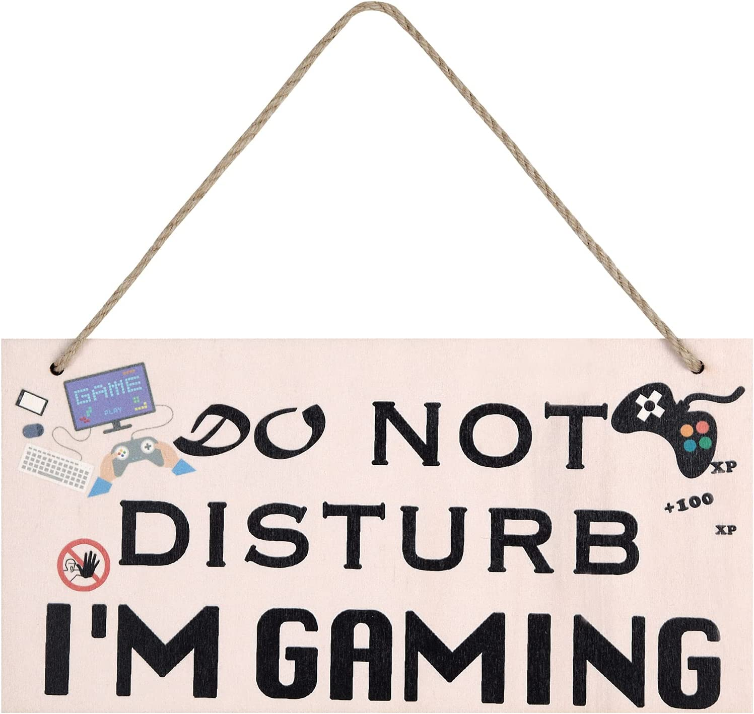 Gogozpxy Gamer Gaming Room Decor Teen Boys Game Room Signs Decor Gifts Plaque Boyfriend Do Not Disturb I'm Gaming 12x6 inch