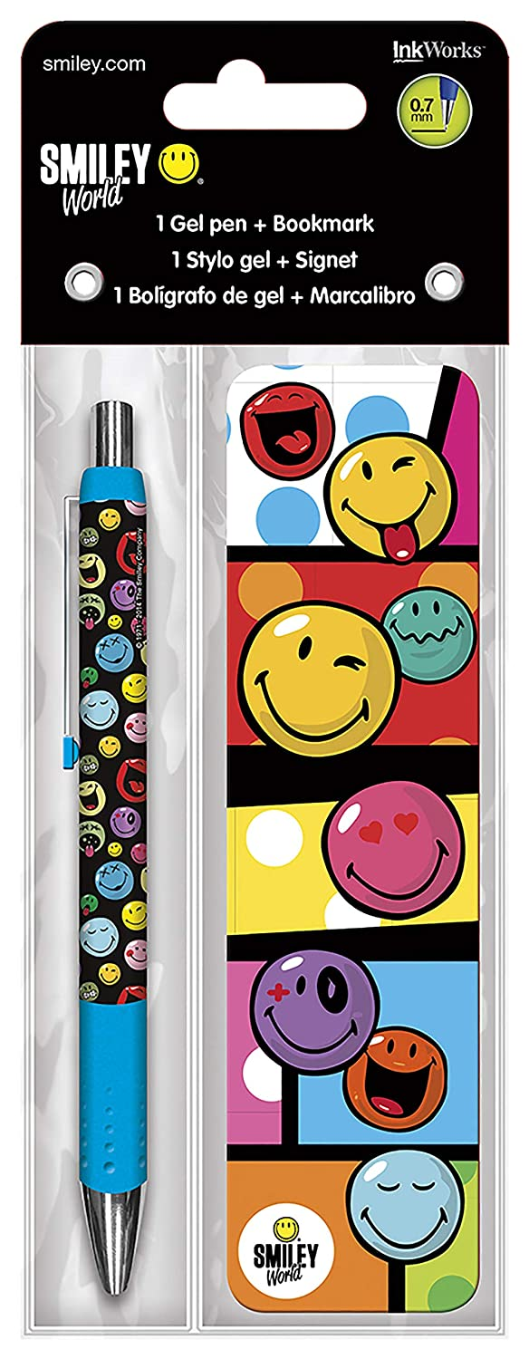 Trends International Smiley World Gel Pen Bookmark Pack
