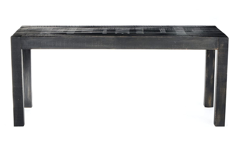 Tisch Mangoholz lackiert antikschwarz