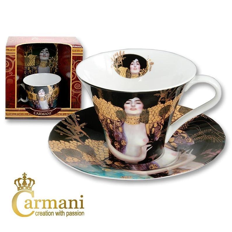 CARMANI - Porcelaine Coffe Cup avec soucoupe décorée avec \