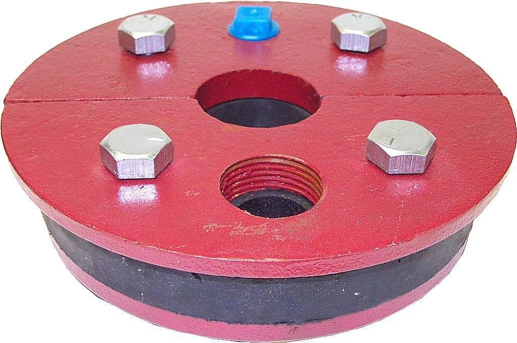 1.95 Single Drop Pipe 1-1//4 Drop Pipe Split Top Plate 6-1//4 Well Size Merrill MFG WS625125 Cast Iron Well Seal Series WS