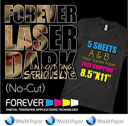 Amazon.com: forever-laser-dark-no-cut-a-amp-b-heat-transfer ...