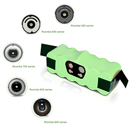 Batería de repuesto Ni-MH Super Capacidad 3800mAh para iRobot Roomba + Kit de cepillo para iRobot Roomba 700 720 750 760 770 772e 776 776p 780 782e ...