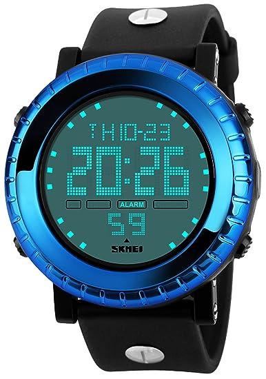 carlien Mens deportes relojes marca hombres Digital LED Display deportes reloj 50 m impermeable multifunción relojes de pulsera: skmei: Amazon.es: Relojes