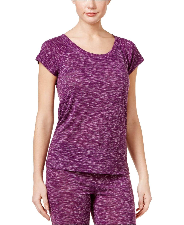 Purple Glow Alfani Raglan-Sleeve Pajama Top Medium
