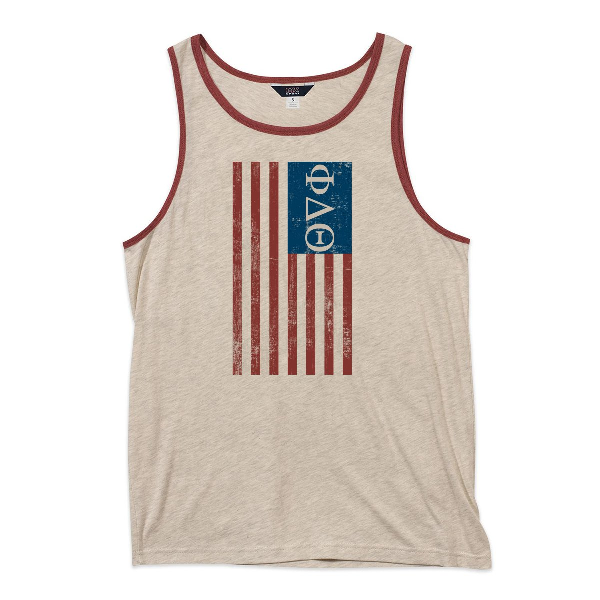 Phi Delta Theta Blue USA Ringer Tank