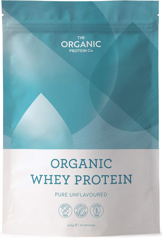 Proteína de suero orgánica - Vacas alimentadas en pastos, sin aditivos ni gluten (400 g)