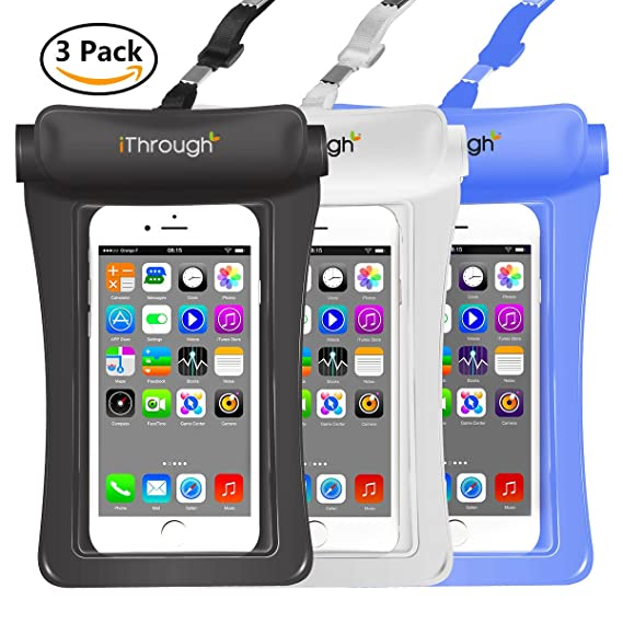 8efc1a4928 Universal Waterproof Case, iThrough Waterproof Pouch IPX8 Heavy-Duty Case  Dry Bag Pouch for
