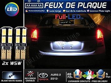 Pack Bombillas LED iluminación placa para Toyota Auris 2: Amazon.es: Coche y moto