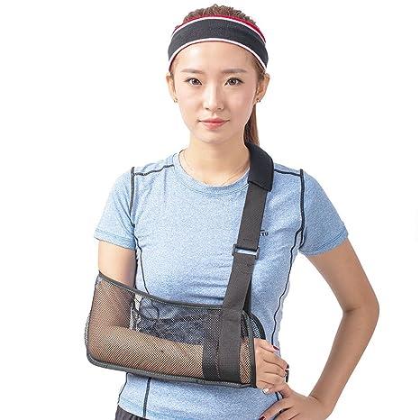 Cool malla cabestrillo para brazo médica inmovilizador giratorio puño  muñeca Codo Antebrazo Apoyo hombro correa ligero bd1d4d8bc889