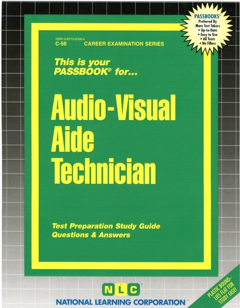 Audio-Visual Aide Technician(Passbooks)