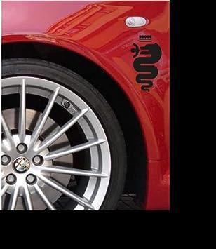 Myrockshirt 2 X Alfa Romeoaufkleber Logo Kotflügel 15 Cm Tuning Aufkleber Sticker Decal Bonus Testaufkleber Estrellina Glückstern Gedruckte Montageanleitung Auto