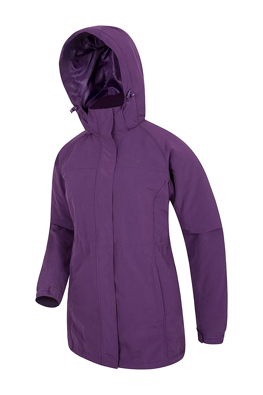 Water Resistant Hood Comfortable /& Longer Outerwear Lightly Padded Great for Everyday Wear Or Walking Mountain Warehouse Westport Womens Winter Long Jacket