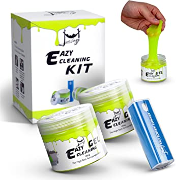 Eazy Cleaning Kit 2x Premium Reinigungsgel Und 1x Eazy Screen Cleaner Reinigungsknete Für Den Innenraum Ideal Für Auto Und Tastatur Reinigung Bildschirmreiniger Für Display Handy Etc Auto