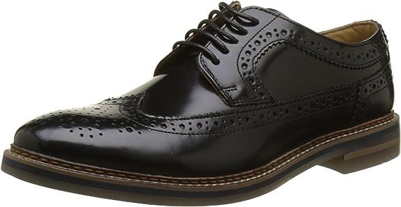 TALLA 40 EU. Base London Turner, Zapatos de Cordones Brogue para Hombre