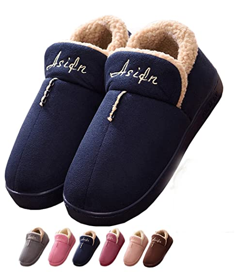 Mujer Invierno Zapatillas de Estar casa Cerradas Calienta Pantuflas Termicas Zapatos Slippers (36/37