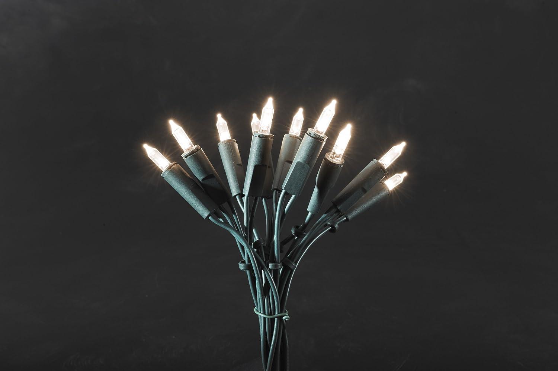 Hellum 835014 Lichterkette 50 Pisellokerzen klar 10,35 m//innen//Zuleitung 2x1,5 m gr/ün